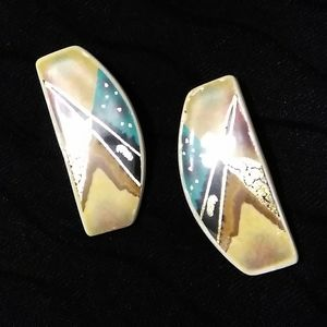 ARTIST DESIGNED ABSTRACT EARRINGS.